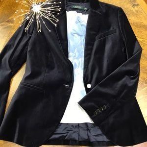 Ralph Lauren Navy Blue Velvet Blazer😍